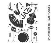 vector jazz festival poster... | Shutterstock .eps vector #625400651