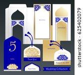 wedding set. invitation in a...   Shutterstock .eps vector #625402079