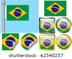 flag set brazil | Shutterstock .eps vector #62540257
