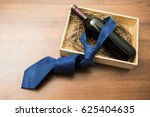 one bottle of red wine with... | Shutterstock . vector #625404635