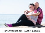 happy elderly man and a woman... | Shutterstock . vector #625413581