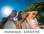 group of young and cute girls...   Shutterstock . vector #625425761
