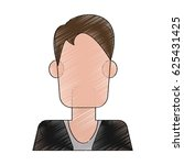 faceless man icon image  | Shutterstock .eps vector #625431425
