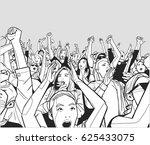 illustration of festival crowd... | Shutterstock .eps vector #625433075