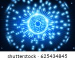hi tech eye neon background. | Shutterstock . vector #625434845