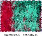 grunge background red turquoise.... | Shutterstock . vector #625438751