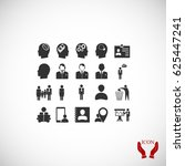 business man icons  vector best ... | Shutterstock .eps vector #625447241