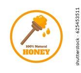 honey label on background.... | Shutterstock .eps vector #625453511
