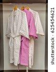 dressing gowns on a hanger | Shutterstock . vector #625454621