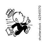 running late   retro clipart... | Shutterstock .eps vector #62545570