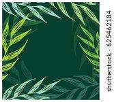 hand drawn doodle floral frame... | Shutterstock .eps vector #625462184