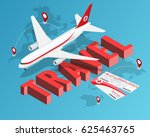 to travel is to live  tickets... | Shutterstock .eps vector #625463765