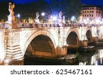 ponte saint'angelo is a roman... | Shutterstock . vector #625467161