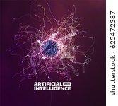 artificial intelligence vector... | Shutterstock .eps vector #625472387