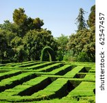 park  labyrinth in barcelona | Shutterstock . vector #62547457