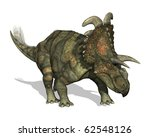 3D render depicting an Albertaceratops, a dinosaur that lived during the Late Cretaceous period. - stock photo