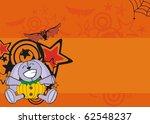 bunny halloween background in... | Shutterstock .eps vector #62548237