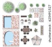 detailed landscape garden... | Shutterstock .eps vector #625491527