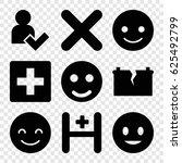 positive icons set. set of 9... | Shutterstock .eps vector #625492799