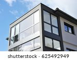 front of a new modern building... | Shutterstock . vector #625492949