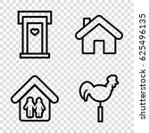 roof icons set. set of 4 roof... | Shutterstock .eps vector #625496135