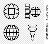logistics icons set.  | Shutterstock .eps vector #625497041