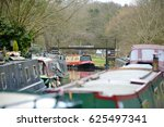 View Of Barges On The Kennet...