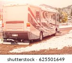rv campsite in snow at estes... | Shutterstock . vector #625501649
