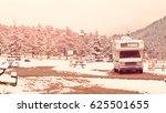 rv campsite in snow at estes... | Shutterstock . vector #625501655