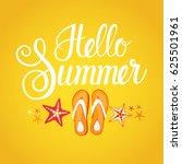 hello summer season text banner ... | Shutterstock .eps vector #625501961