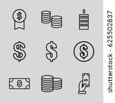 income icons set. set of 9...   Shutterstock .eps vector #625502837