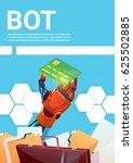chat bot robot virtual... | Shutterstock .eps vector #625502885