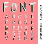 memphis style letters. set of...   Shutterstock .eps vector #625502975