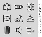 energy icons set. set of 9... | Shutterstock .eps vector #625503515