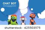 chat bot robot virtual... | Shutterstock .eps vector #625503575