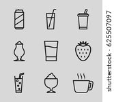 refreshment icons set. set of 9 ... | Shutterstock .eps vector #625507097