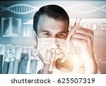 young scientist mixing reagents ... | Shutterstock . vector #625507319
