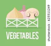 vegetables fresh agriculture... | Shutterstock .eps vector #625511249
