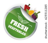 fresh vegetables health... | Shutterstock .eps vector #625511285