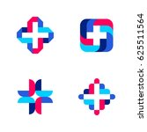 colorful cross. abstract... | Shutterstock .eps vector #625511564