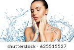 beautiful model spa woman with... | Shutterstock . vector #625515527