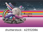 abstract night sky vector... | Shutterstock .eps vector #62552086