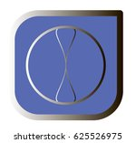 blue rounded square button ... | Shutterstock .eps vector #625526975