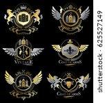 vintage decorative heraldic... | Shutterstock . vector #625527149