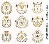 set of vintage emblems created... | Shutterstock . vector #625527161