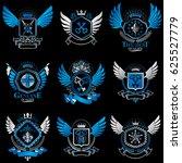 collection of heraldic...   Shutterstock . vector #625527779