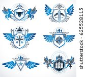 set of  vintage emblems created ... | Shutterstock . vector #625528115