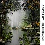 3d illustration of forest... | Shutterstock . vector #625532519