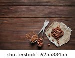 spoons with aromatic cocoa... | Shutterstock . vector #625533455
