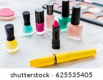 set of decorative cosmetics on... | Shutterstock . vector #625535405
